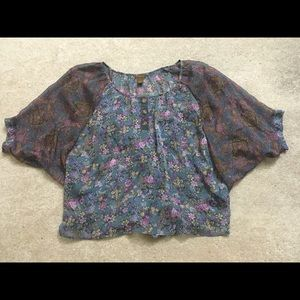 Copper Key Boho Blouse in Size Small